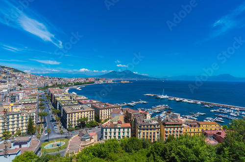 Naples (Campania, Italy) - The historic center of the biggest city of south Italy. Here in particular: the landscape from Posillipo terrace