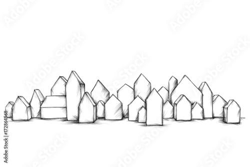 Fotografie, Obraz  Kleine Modellhäuser