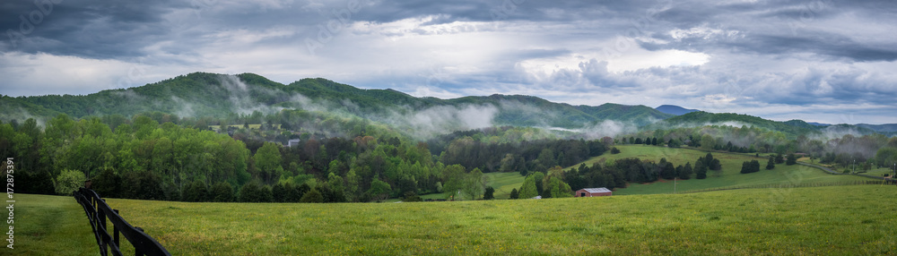 Fototapety, obrazy: Appalachians rolling hills in Virginia