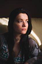 Portrait Of A Blue Eyed Woman