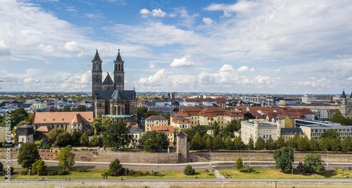 Aerial view of Magdeburg