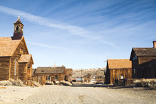 Deserted Street In Creepy Ghost Town From The Gold Rush