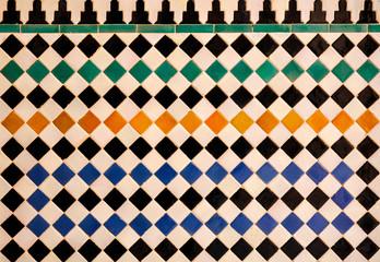 Panel Szklany Podświetlane Mozaika Artes decorativas, Alhambra de Granada, Al Andalus, turismo andaluz, España