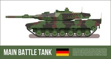 Battle German Tank Modern In F...