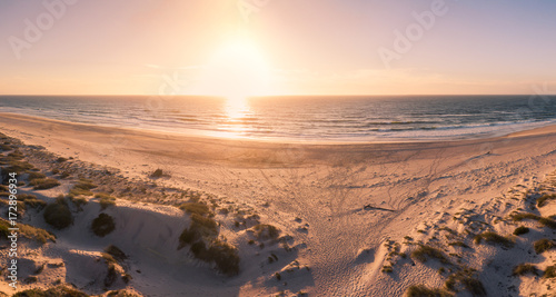 Fototapety, obrazy: Aerial view of beach at sunset