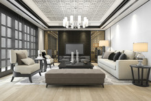3d Rendering Luxury And Modern...