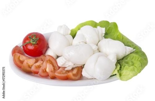 Photo Nodini con pomodoro e lattuga