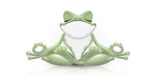 Funny Frog Doing Yoga