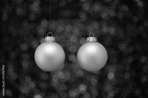 Fotografie, Obraz  Twee kerstballen