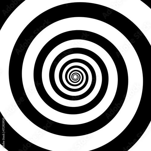 Obraz Spiral color black on the white background. Vector illustration - fototapety do salonu