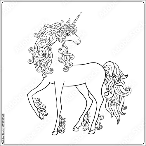 Unicorn Outline Drawing Coloring Page Coloring Book For Adult Buy This Stock Vector And Explore Similar Vectors At Adobe Stock Adobe Stock