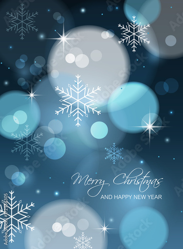 Merry Christmas and Happy New Year postcard. Canvas Print