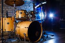 Modern Drum Set Shot In Smoky ...