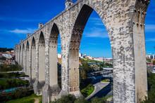 The Aqueduct Aguas Livres In Lisbon, Portugal