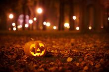 Kind Halloween Pumpkin In The ...