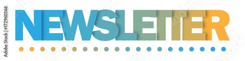 Fototapeta NEWSLETTER Duotone Vector Letters Icon obraz