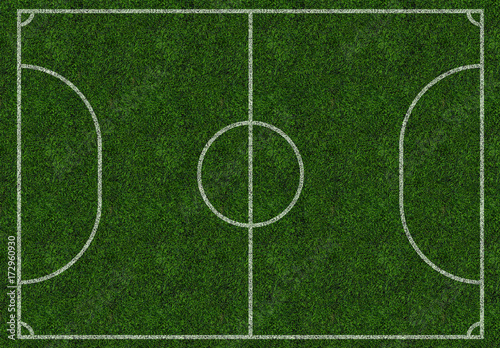 Vászonkép  Mini-football field, pitch, ground, isolated. Top view