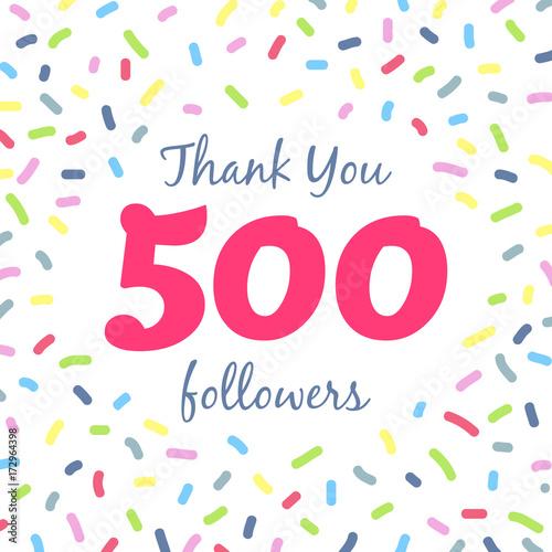 Photo Thank you 500 followers network post