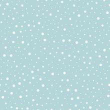 Snowfall Vector Seamless Pattern