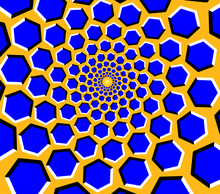 Optical Illusion - Blue Hexago...