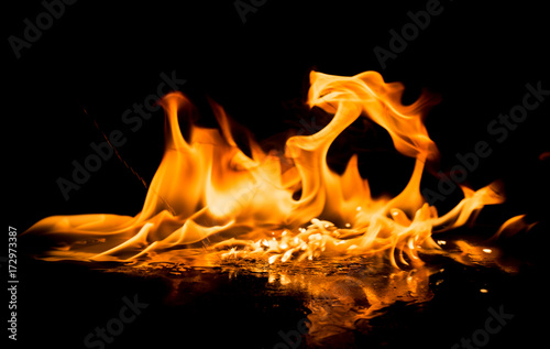 Foto op Canvas Vuur Fire flames