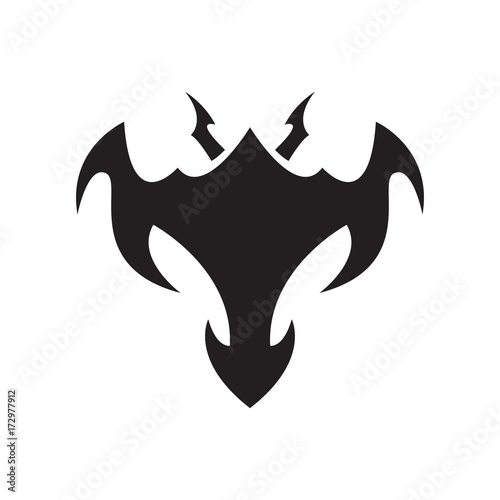 c89685189 Tribal Devil Bat Logo - Buy this stock vector and explore similar ...