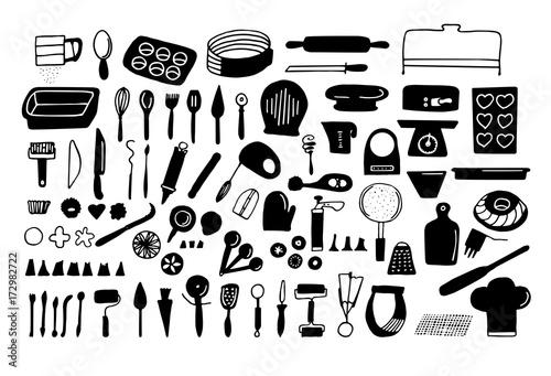 Valokuva  Baking tools and essentials
