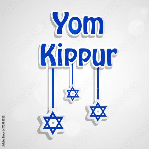 Obraz na płótnie illustration of elements jewish yom kippur background