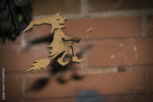 Fotografie, Obraz  Bruja volando en escoba