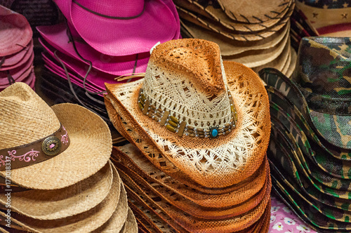 It's All About The Hat  An image of a display of ladies