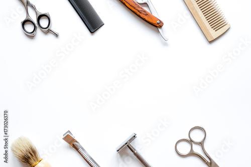 Fotografie, Obraz  Instruments male hairdresser barbershop top view