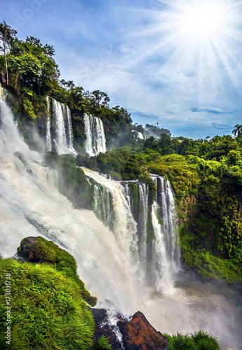 Foto op Canvas Watervallen Waterfalls Iguazu, Argentina