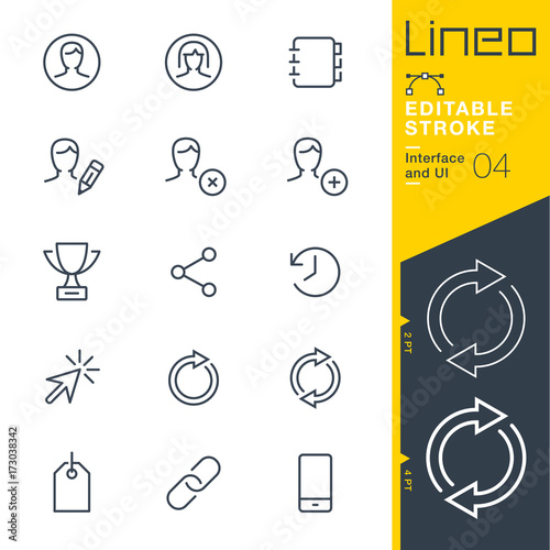 Cuadros en Lienzo  Lineo Editable Stroke - Interface and UI line icons