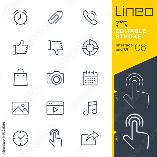 Obraz Lineo Editable Stroke - Interface and UI line icons Vector Icons - Adjust stroke weight - Expand to any size - Change to any colour - fototapety do salonu
