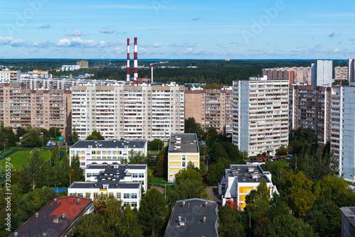 Plakat CHP drymby w Zelenograd okręg administracyjny Moskwa, Rosja