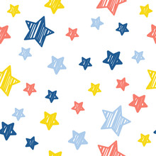 Abstract Star Seamless Pattern...