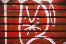 Angry Emoticon Face Graffiti