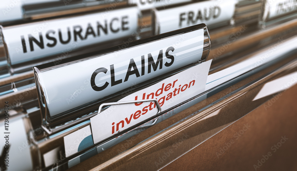 Fototapety, obrazy: Insurance Company Fraud, Bogus Claims Under Investigations