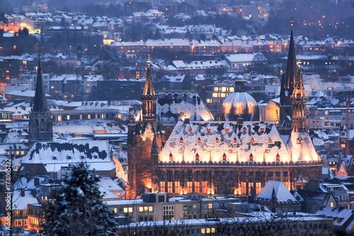 Aachen Weihnachten Winter Schnee Canvas Print