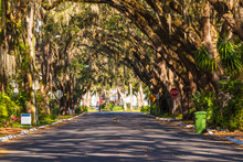 View Of Magnolia Ave In Saint Augustine In Sunny Day, Florida, USA