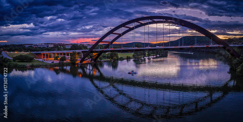 Foto auf Gartenposter Texas Pennybacker Bridge in Austin, Texas