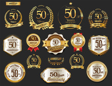 Anniversary Golden Laurel Wrea...
