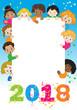 Felice anno nuovo con bambini