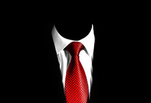 Business Man Suit With A Red T...
