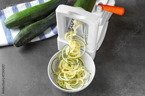 Making spaghetti squash on kitchen table