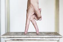 Hand Making A Walking Gesture