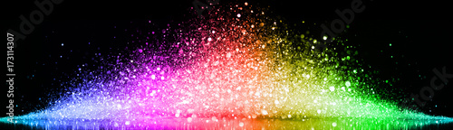 Fotografija Rainbow of sparkling glittering lights abstract background