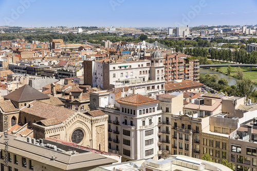 a view over Lleida city, Catalonia, Spain