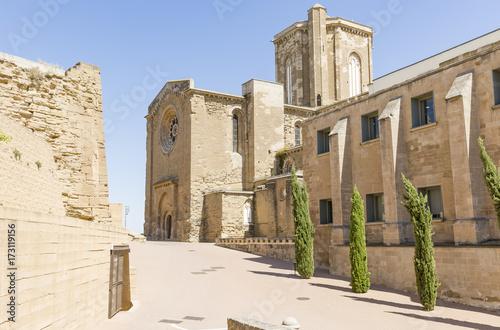 old Cathedral of La Seu Vella in Lleida city, Catalonia, Spain