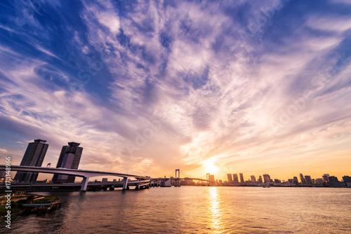 Plakat Zmierzch obszaru Tokio Zatoki